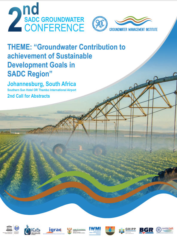 2nd ground water conference - call for abstracts