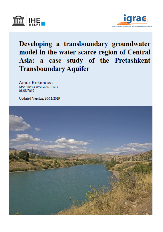 Developing a transboundary groundwater model in the water scarce region of Central Asia