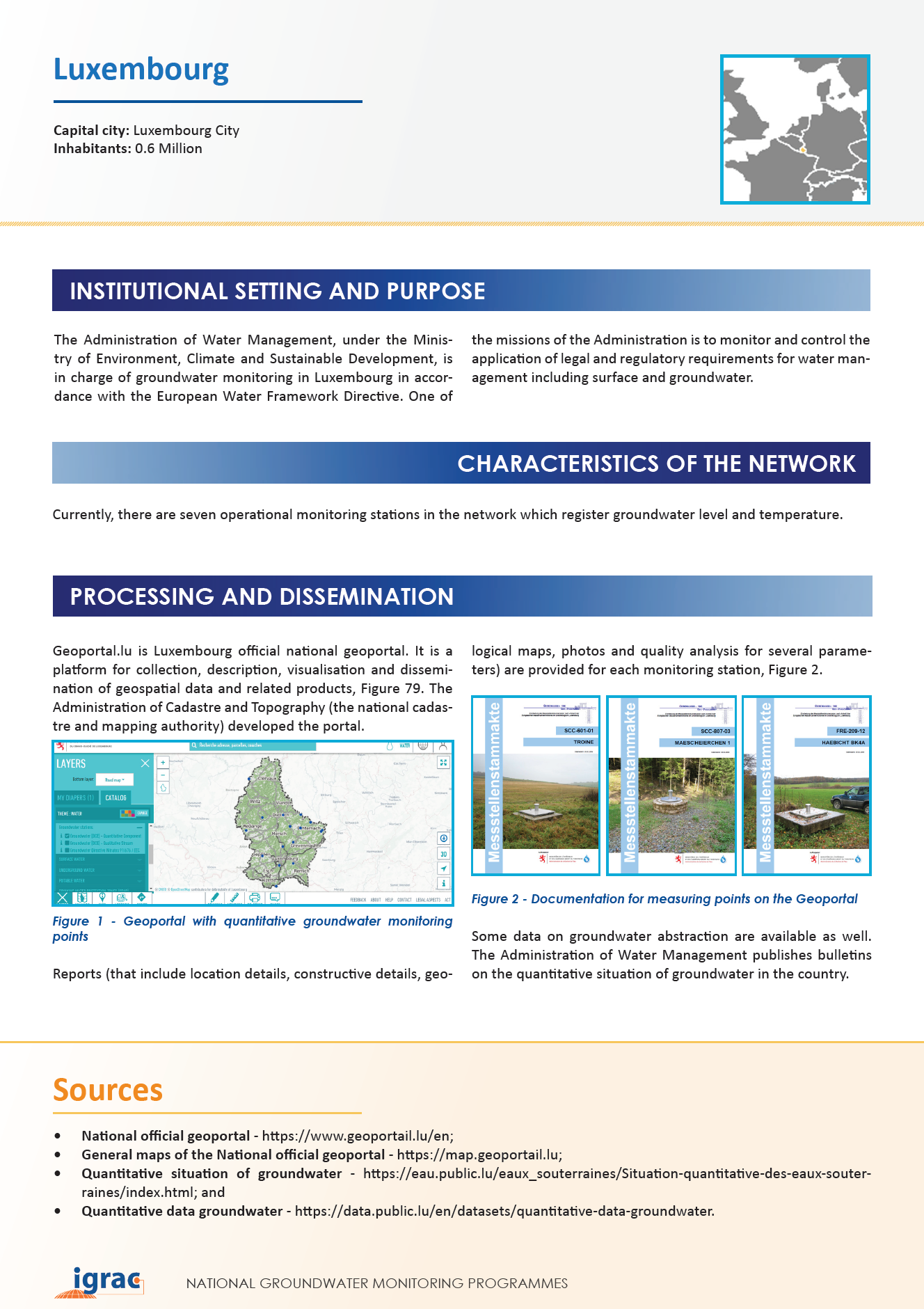Groundwater monitoring country profile - Luxembourg