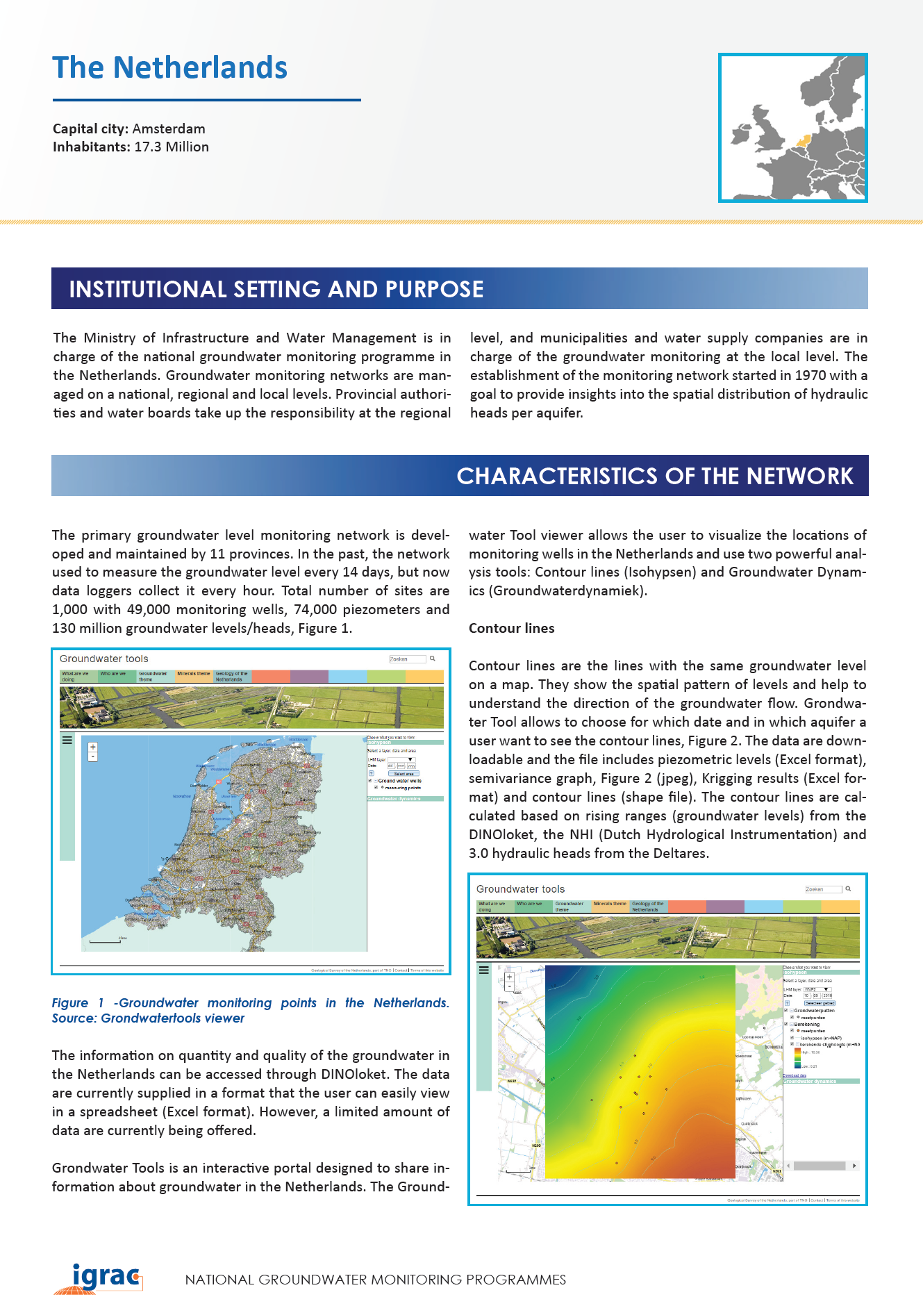 Groundwater monitoring country profile - The Netherlands