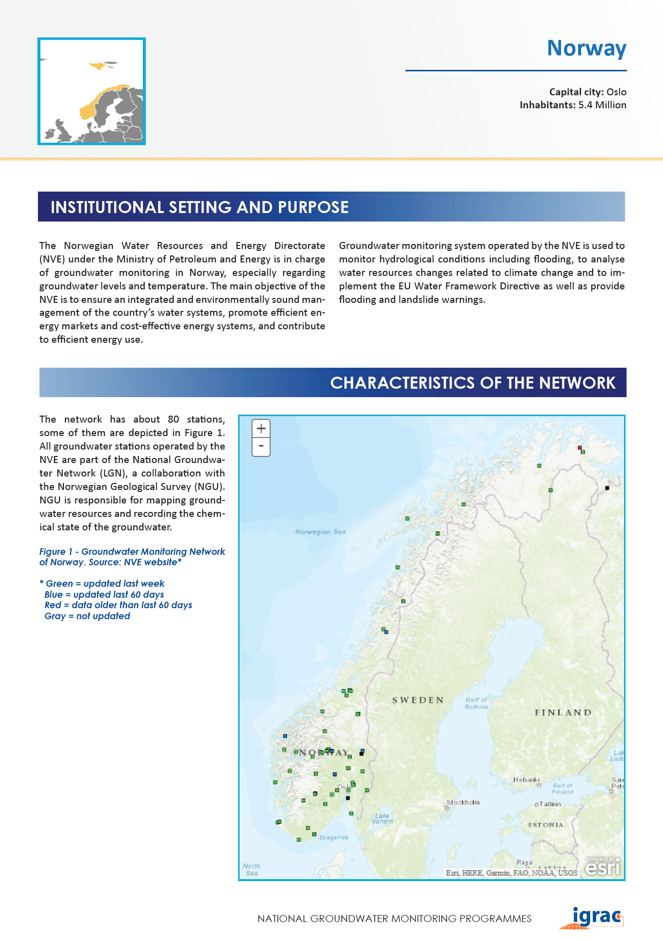 Groundwater monitoring country profile - Norway