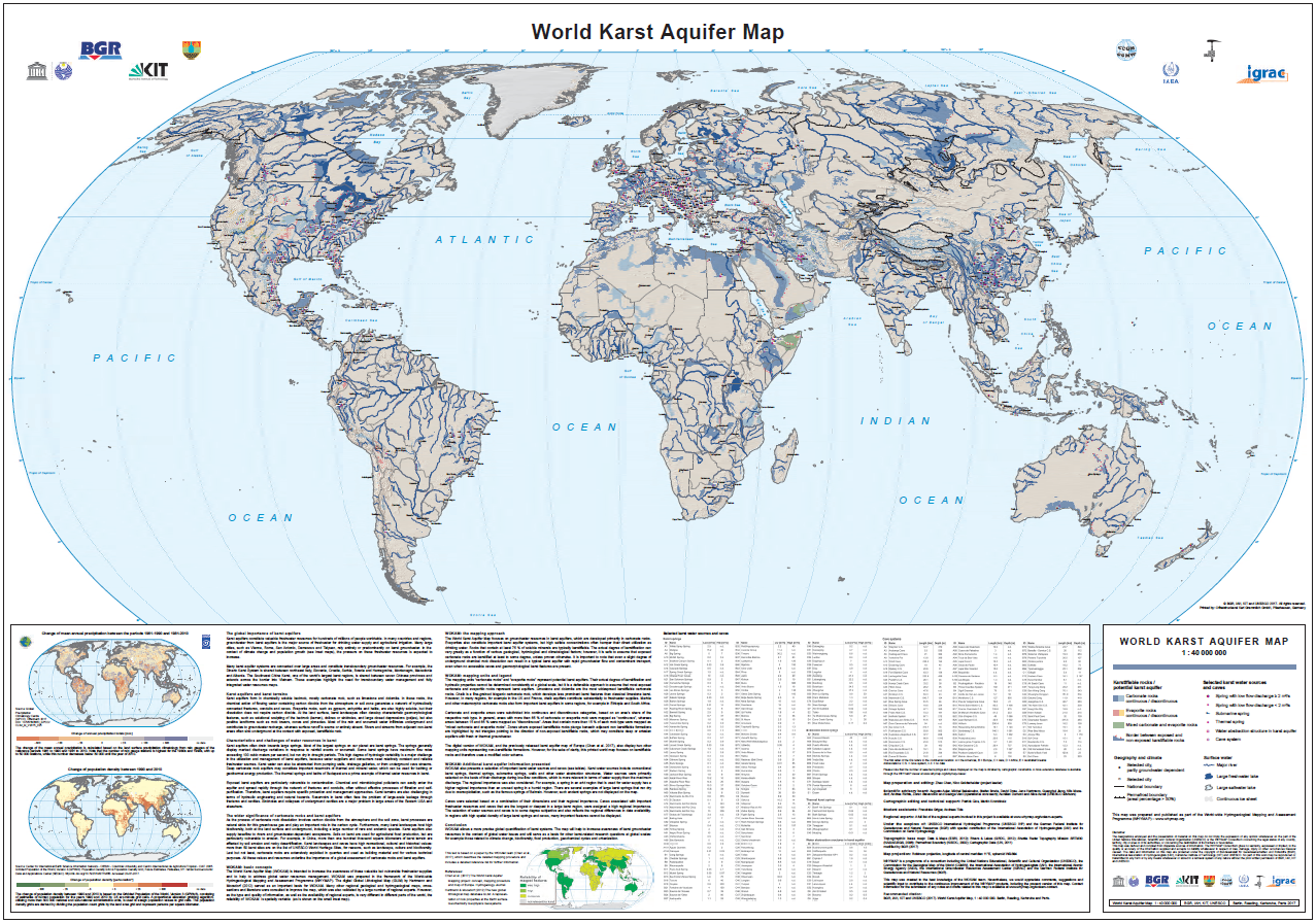 New 'World Karst Aquifer Map' to allow better global ... on global population distribution map, global information systems, global nepal map, global wine map, global sports map, global christianity map, global temperature rise, global political map, new zealand global map, global risk game map, current global weather map, global telecommunications provider, europe map, global map south africa, global technology map, global culture map, global time map, earth real-time wind map, global air traffic control map, global earth,