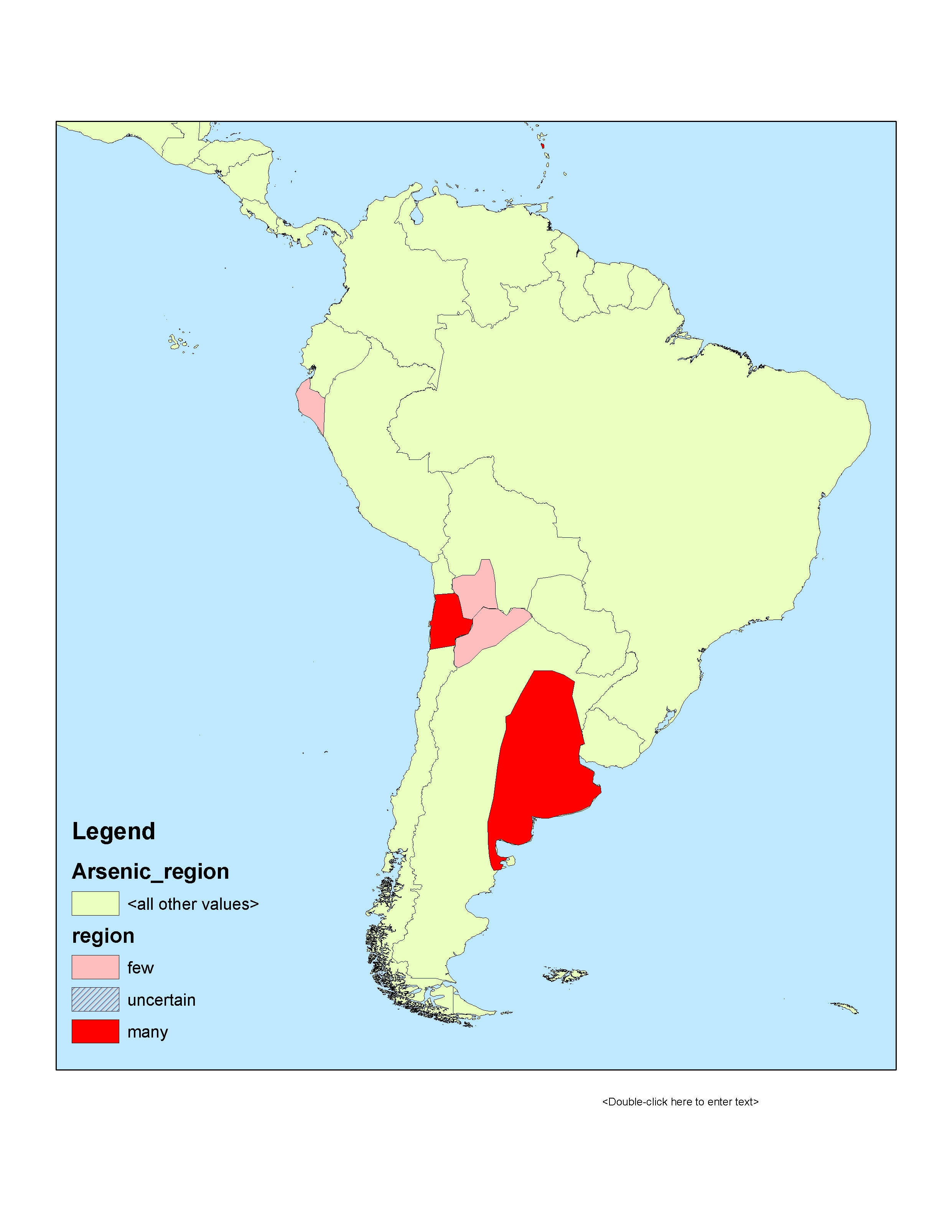 Arsenic in groundwater in South America