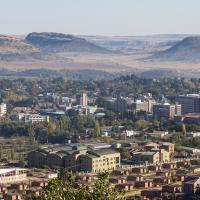 Maseru from Parliament Hill by OER Africa