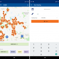 Screenshots Groundwater Monitoring app