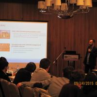 Andreas Antoniou presents IGRAC GGIS during Central Asia Workshop