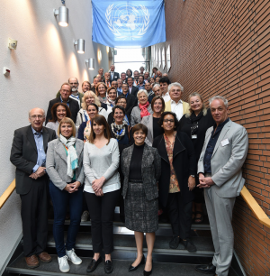 Group picture during water museums conference