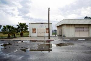 The Lanare community center and defunct water treatment plant. Photograph: Talia Herman/The Guardian