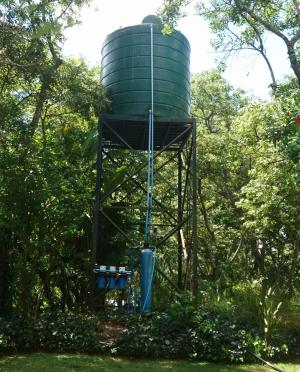 GW Well and Water Tank at ZINWA