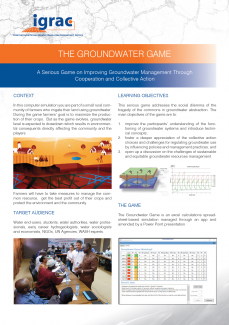 The Groundwater Game flyer