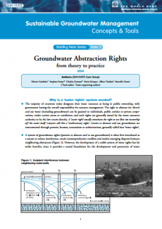 Groundwater Abstraction Rights: from theory to practice (GW-MATE)