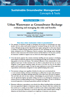 Urban Wastewater as Groundwater Recharge: evaluating and managing risks and benefits (GW-MATE)
