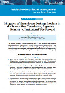 Argentina - Mitigation of groundwater drainage problems in the Buenos Aires Conurbation (GW-MATE Case study)