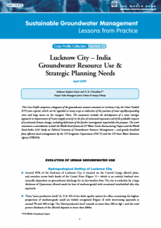 India - Lucknow City - Groundwater Resource use and strategic planning needs (GW-MATE Case Study)