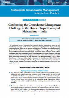 India - Confronting the groundwater management challenge in the deccan traps country of Maharashtra (GW-MATE Case Study)