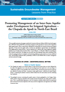 Brazil - Promoting management of an inter-state aquifer under development for irrigated agriculture (GW-MATE Case Study)