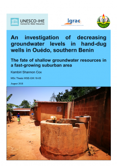 An investigation of decreasing groundwater levels in hand-dug wells in Ouédo, southern Benin