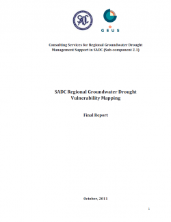 SADC Regional Groundwater Drought Risk Mapping