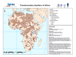 Transboundary Aquifers of Africa Map 2016