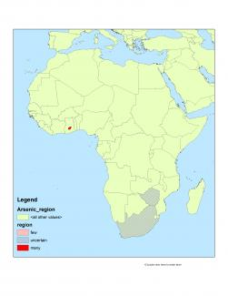 Arsenic in groundwater in Africa