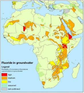 Fluoride in African groundwater: Occurrence and mitigation