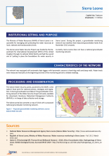 Groundwater monitoring country profile - Sierra Leone