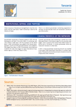 Groundwater monitoring country profile - Tanzania