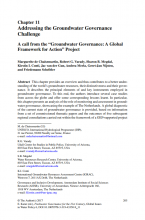Addressing the Groundwater Governance Challenge - A call from the Groundwater Governance: A Global Framework for Action project