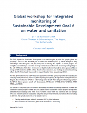 Agenda - Global workshop for integrated monitoring of SDG 6 on water and sanitation (21-23 Nov, The Hague)
