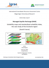 Managed Aquifer Recharge (MAR) - Suitability maps and standardized suitability index, the case study of the Occitanie region (South France)