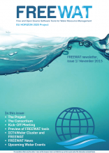 FREEWAT Newsletter Issue 1 - November 2015
