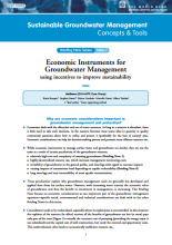 Economic Instruments for Groundwater Management: using incentives to improve sustainability (GW-MATE)