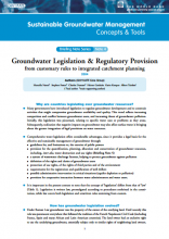 Groundwater Legislation and Regulatory Provision: from customary rules to integrated catchment planning (GW-MATE)