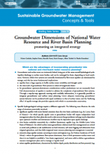 Groundwater Dimensions of National Water Resources and River Basin Planning: promoting an integrated strategy (GW-MATE)