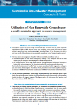 Utilisation of Non-Renewable Groundwater: a socially-sustainable approach to resource management (GW-MATE)