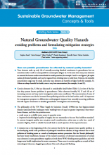 Natural Groundwater Quality Hazards: avoiding problems and formulating mitigation strategies (GW-MATE)