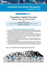Groundwater Quality Protection: defining strategy and setting priorities (GW-MATE)