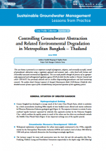 Thailand - Controlling GW abstraction and related environmental degradation in metropolitan Bangkok (GW-MATE Case Study)