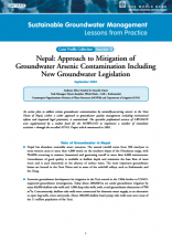 Nepal - Approach to mitigation of GW arsenic contamination including new groundwater legislation (GW-MATE Case Study)