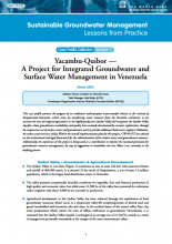 Venezuela - Yacambu, Quibor: a project for integrated groundwater and surface water management (GW-MATE Case study)