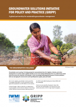 Groundwater Solutions Initiative for Policy and Practice (GRIPP), A global partnership for sustainable groundwater management