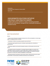 Groundwater Solutions Initiative for Policy and Practice (GRIPP), Concept Note