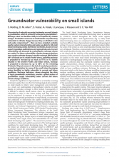 Groundwater Vulnerability on Small Islands