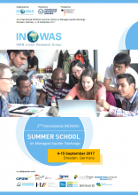INOWAS Summer School on Managed Aquifer Recharge