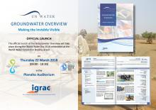 Flyer official launch Groundwater Overview