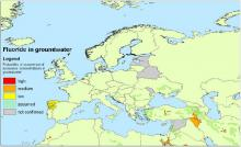 Fluoride in groundwater in Europe