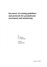 Inventory of existing guidelines and protocols for groundwater assessment and monitoring