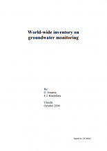 World-wide inventory on groundwater monitoring